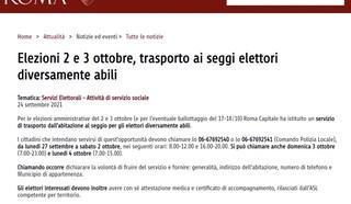 Sul sito di Roma Capitale c'è la data delle elezioni, ma è sbagliata
