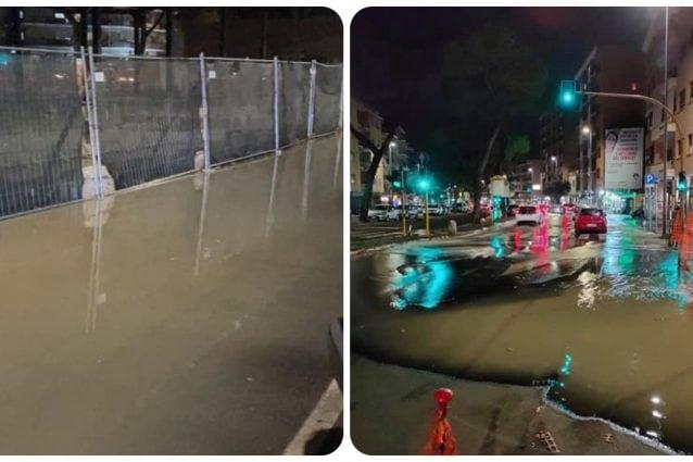 Via Gregorio VII chiusa per una perdita d'acqua: traffico in tilt