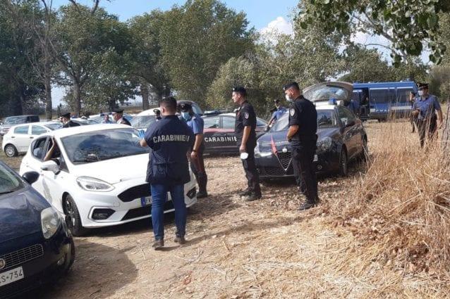 A Viterbo un altro rave party abusivo bloccato dalle forze dell'ordine: 59 identificati