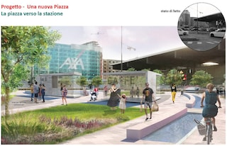 Milano, specchi d'acqua e piante: ecco il progetto per la nuova piazza Freud davanti a Garibaldi