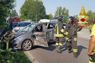 Tribiano, schianto tra un'auto e un tir: gravemente ferito 70enne alla guida della vettura