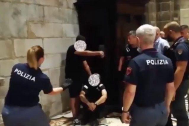 Un frame del video pubblicato dalla polizia di Milano