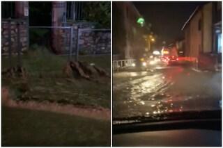 Maltempo e allagamenti a Luvinate: strade invase dal fango, blackout e famiglie evacuate
