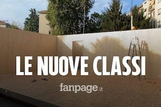 Milano, vigilia del rientro a scuola: pronti i primi prefabbricati per gli studenti