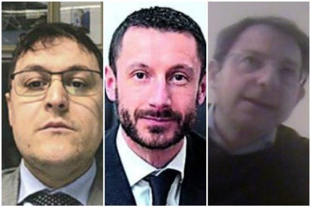 I commercialisti Andrea Manzoni, Alberto Di Rubba e Arturo Maria Scillieri