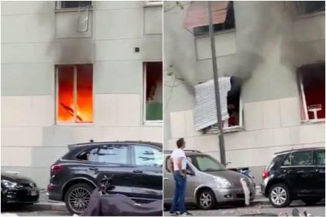 Alcuni frame del video girato subito dopo l'esplosione (Fanpage.it)