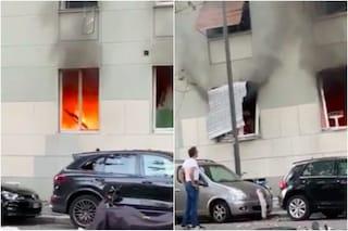 Milano, esplosione in piazzale Libia: le drammatiche urla delle persone nel palazzo in fiamme