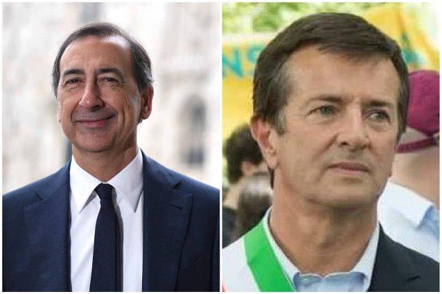 Il sindaco di Milano Giuseppe Sala e quello di Bergamo Giorgio Gori