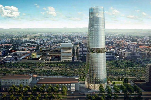 (Torre Faro, il grattacielo di A2A che sorgerà in piazza Trento, a Milano, nel 2023)