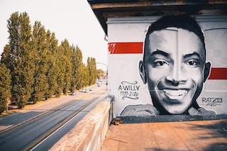 Milano, un murales per Willy Monteiro: l'opera sul tetto del Tempio del Futuro Perduto