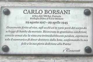Milano, compare una targa abusiva per celebrare il gerarca fascista Carlo Borsani: ira dell'Anpi