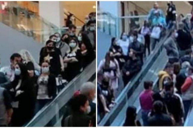 Alcune delle foto di un centro commerciale milanese durante lo scorso weekend (Foto Fanpage.it)