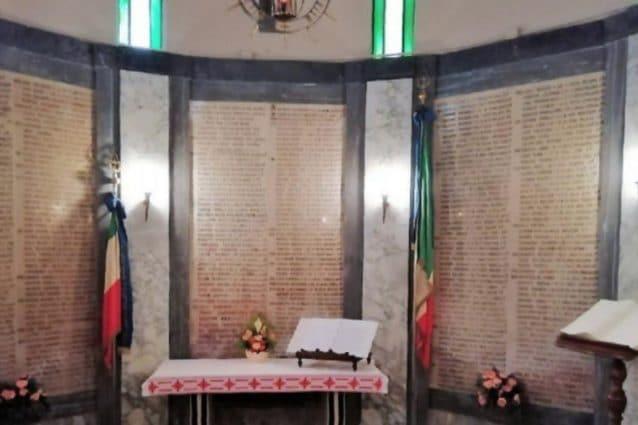 Il Tempio di Duno, in provincia di Varese, dove sono scolpiti i nomi dei 179 medici scomparsi a causa del Covid (Fonte: Ordine dei Medici Varese)
