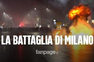 Notte di scontri a Milano, molotov e catene al corteo contro il Dpcm: ferito poliziotto, 15 fermati