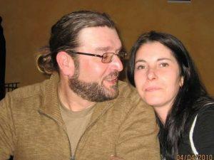Elena Scaini e il marito Stefano Giaron (Facebook)