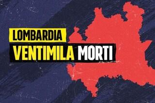 La Lombardia ha superato i 20mila morti dall'inizio della pandemia