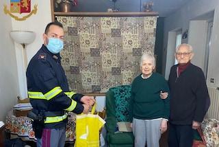 """Bellano, poliziotto della stradale """"adotta"""" i nonni Lucia e Romeo: """"Si prende cura di noi"""""""