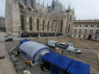Vaccini anti influenzali in piazza Duomo: a Milano allestita la tenda della protezione civile