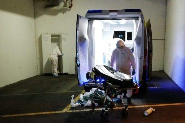 Un'ambulanza dell'associazione Sos Lurago