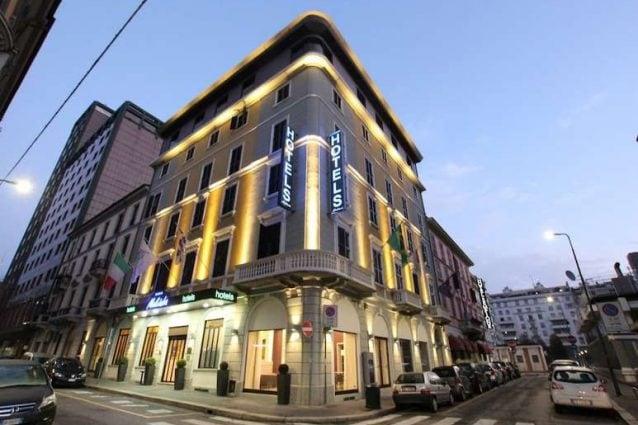 L'hotel Baviera (Foto Fb: Pierfrancesco Maran)