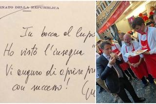 """""""Vi auguro di aprire presto"""": il biglietto di Conte a Pizzaut, pizzeria gestita da ragazzi autistici"""