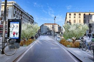 La movida di Milano diventa più verde: ulivi e 500 piante collocate tra corso Como e largo La Foppa