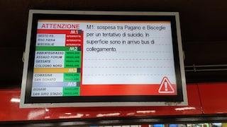 Milano, tentato suicidio in metro: linea rossa M1 sospesa per tre ore