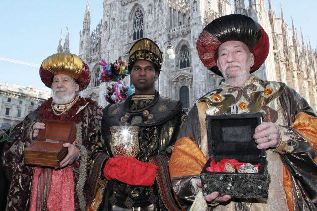 Corte dei Re Magi di Milano. Dalla pagina Facebook di Amici dei Magi di Sant'Eustorgio