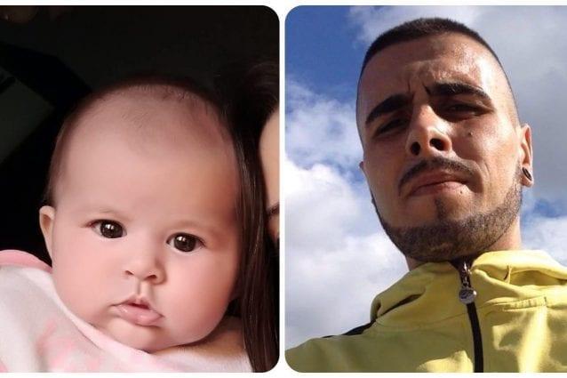 La piccola Sharon e Gabriel Robert Marincat, accusato della sua morte (Fonte: Facebook)