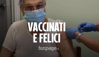 """""""Il Covid è più brutto della guerra"""": la felicità dei primi anziani vaccinati a Milano"""
