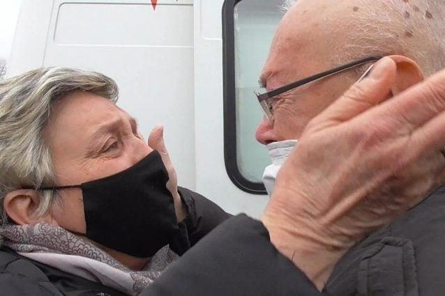 Giuseppe e la moglie dopo 120 giorni (Fonte: sindaco Marco Ballarini)