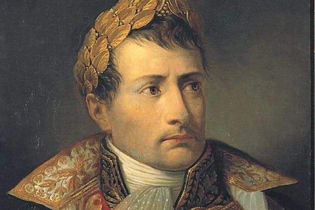 """( dal """"Ritratto di Napoleone imperatore e re d'Italia"""", di Andrea Appiani – Pinacoteca di Brera)"""