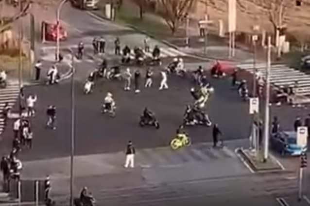 Fotogramma tratto dal video pubblicato online