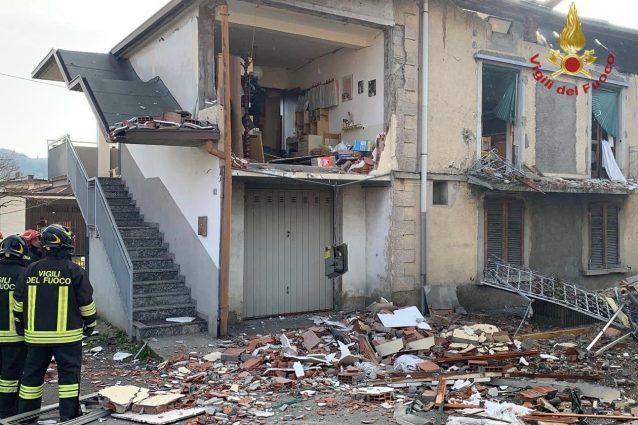 La casa distrutta (Foto: Vigili del fuoco)