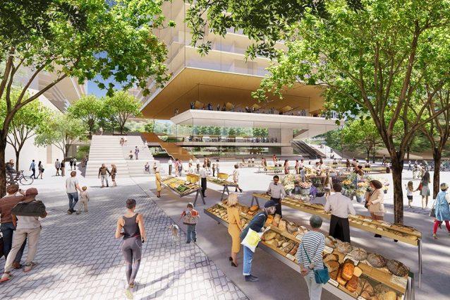Il rendering del villaggio olimpico (Fonte: il Comune di Milano)