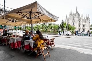Milano, la pioggia frena il ritorno al ristorante: dehors semi vuoti soprattutto per cena