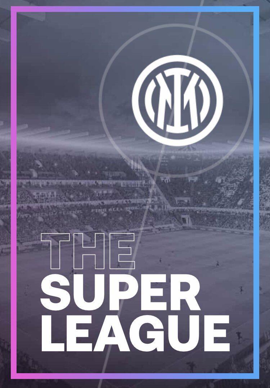 Il logo dell'Inter con in sfondo il nuovo stadio (sito Superlega)