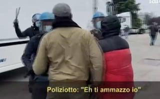 """""""Ti ammazzo io"""", la frase choc di un poliziotto ad un manifestante durante uno sciopero a Peschiera"""