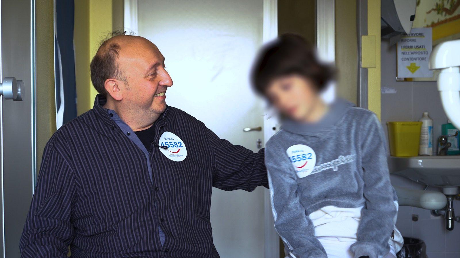 Gaia col suo papà