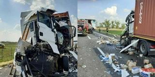 Incidente sull'A1, tragico tamponamento tra due camion: muore uno dei due autisti