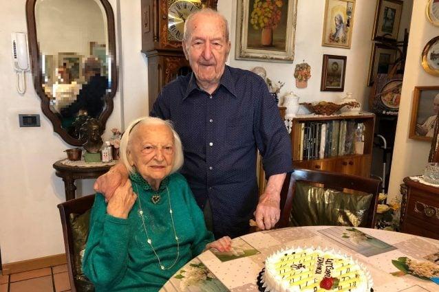 Rinaldo e Giuseppina, la coppia più longeva di Monza (Foto via Facebook della nipote Carla Erba)