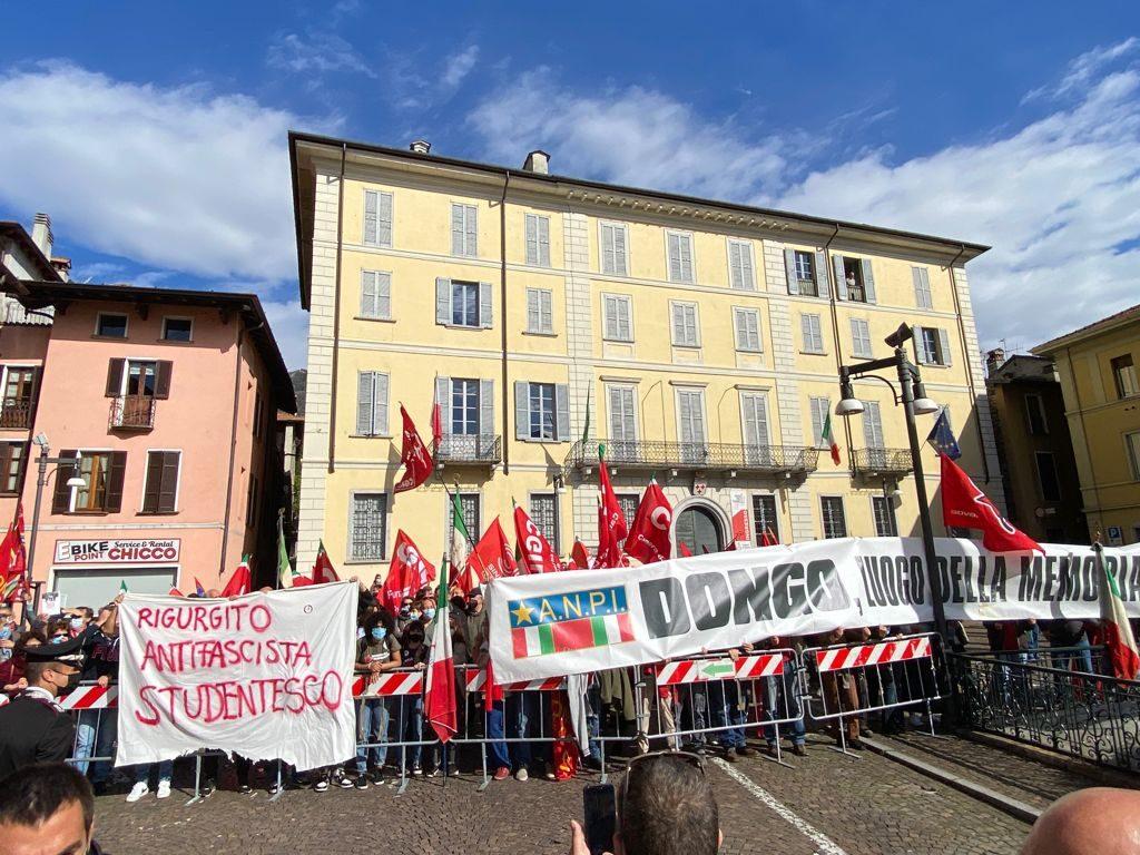 Il contro presidio dell'Anpi (Foto: Giancristofaro/Fanpage.it)