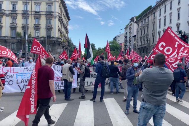 Le proteste della Fedex a Milano