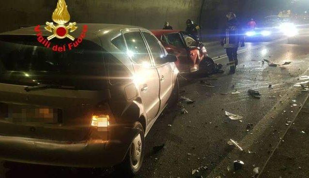 La foto dell'incidente (Fonte: vigili del fuoco)