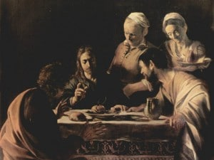 """""""La cena in Emmaus"""", capolavoro di Caravaggio"""