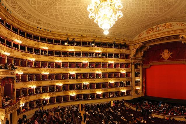 Interno del Teatro alla Scala di Milano