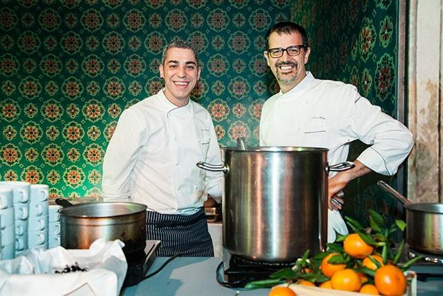 Gli chef del ristorante Seta di Milano (Facebook).