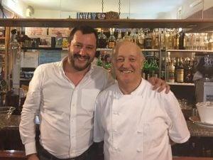 Mario Cattaneo con Matteo Salvini