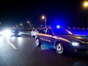 Pattuglie della polizia stradale (Foto di Massimo Sestini)