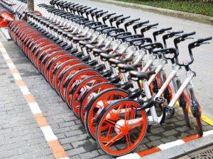 Le biciclette di Mobike (dal sito dell'azienda)